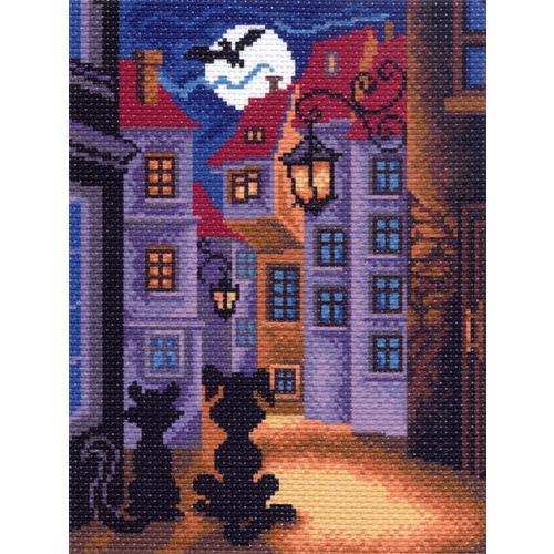 """Канва/ткань с нанесенным рисунком Матрёнин посад """"Кот и собака"""""""