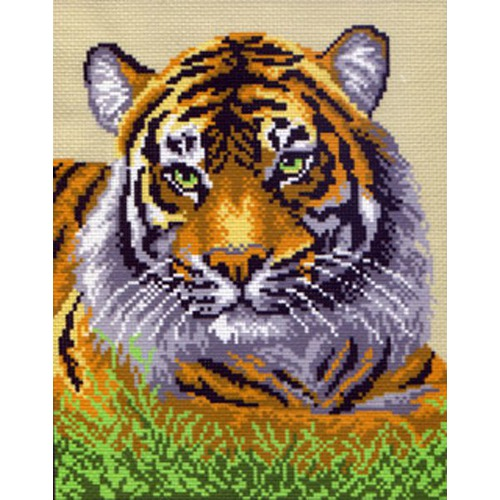 "Канва/ткань с нанесенным рисунком Матрёнин посад ""Тигр"""