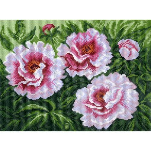 "Канва/ткань с нанесенным рисунком Матрёнин посад ""Розовые цветы"""