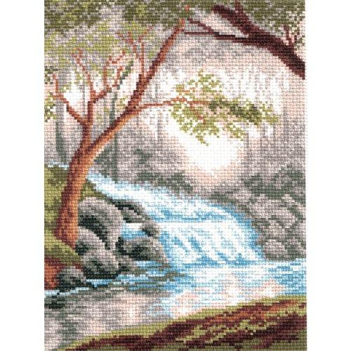 """Канва/ткань с нанесенным рисунком Матрёнин посад """"Маленький водопад"""""""