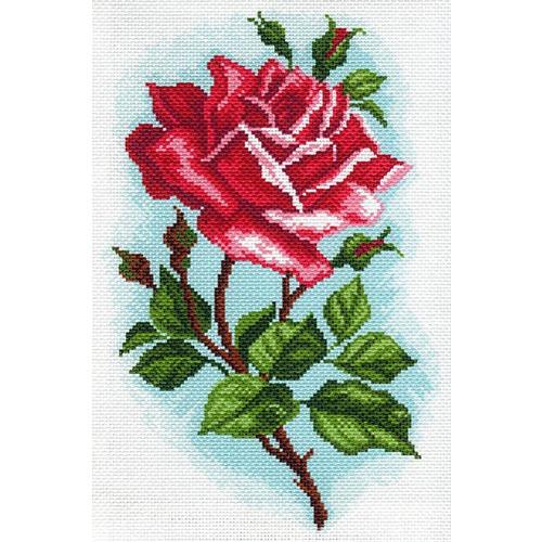 """Канва/ткань с нанесенным рисунком Матрёнин посад """"Роза Осирия"""""""