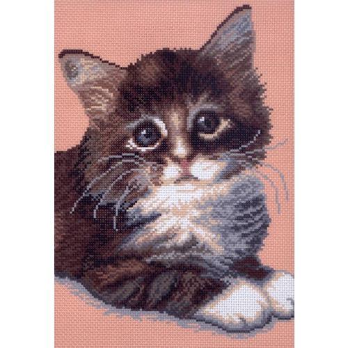 """Канва/ткань с нанесенным рисунком Матрёнин посад """"Милый котенок"""""""