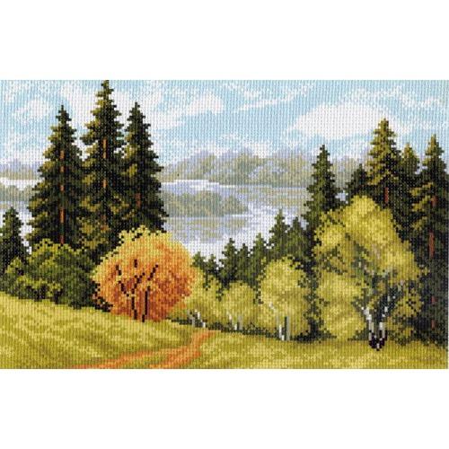"""Канва/ткань с нанесенным рисунком Матрёнин посад """"Лесной пейзажи"""""""