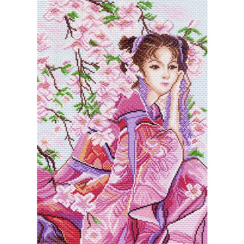 "Канва/ткань с нанесенным рисунком Матрёнин посад ""Розовые мечты"""