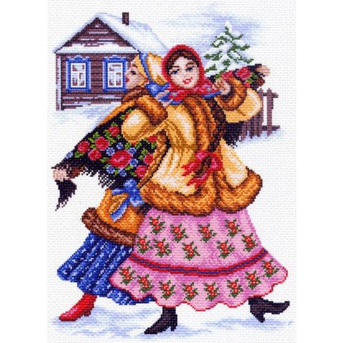 """Канва/ткань с нанесенным рисунком Матрёнин посад """"Русские пляски"""""""