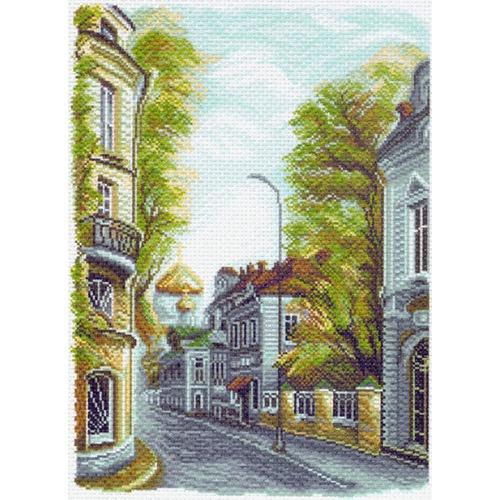"""Канва/ткань с нанесенным рисунком Матрёнин посад """"Гагаринский переулок"""""""