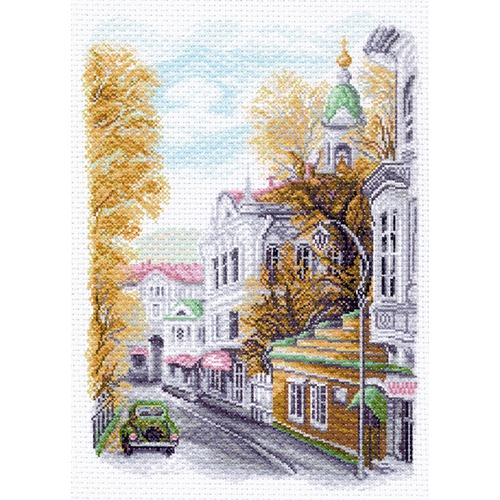"""Канва/ткань с нанесенным рисунком Матрёнин посад """"Яузский бульвар"""""""