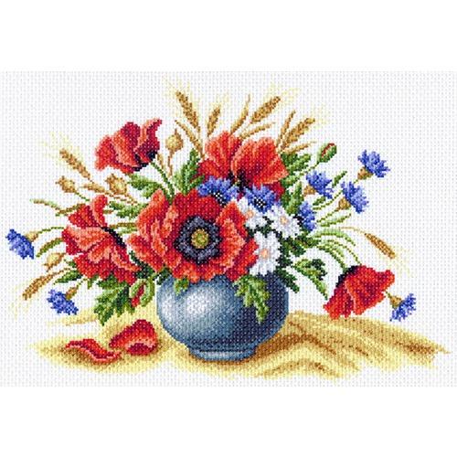 """Канва/ткань с нанесенным рисунком Матрёнин посад """"Полевое соцветие"""""""