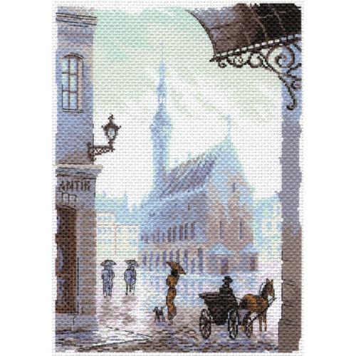 "Канва/ткань с нанесенным рисунком Матрёнин посад ""Старый город"""