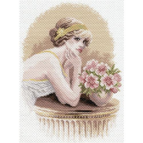 """Канва/ткань с нанесенным рисунком Матрёнин посад """"Девушка ретро"""""""