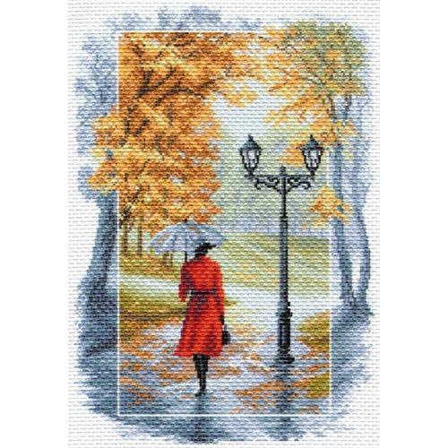 """Канва/ткань с нанесенным рисунком Матрёнин посад """"Соло под дождём"""""""