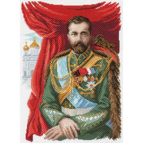 """Канва/ткань с нанесенным рисунком Матрёнин посад """"Император Николай II"""""""