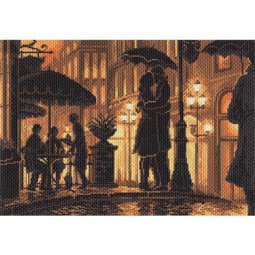 """Канва/ткань с нанесенным рисунком Матрёнин посад """"Ночное кафе"""""""
