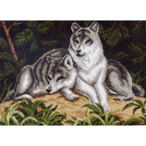 "Канва/ткань с нанесенным рисунком Матрёнин посад ""Два волка"""