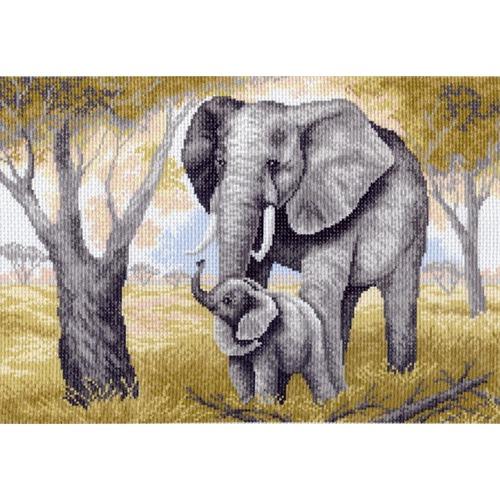 """Канва/ткань с нанесенным рисунком Матрёнин посад """"Слоны"""""""