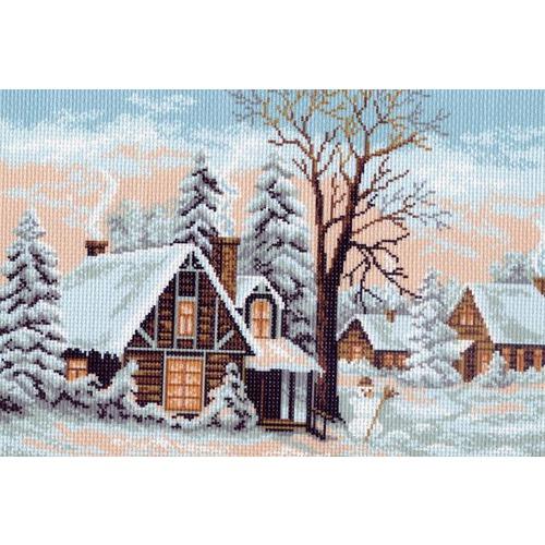 "Канва/ткань с нанесенным рисунком Матрёнин посад ""Зима"""