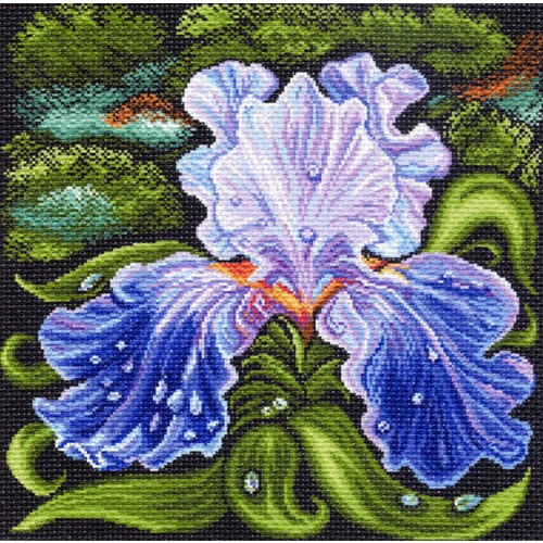 """Канва/ткань с нанесенным рисунком Матрёнин посад """"Ночной ирис"""""""