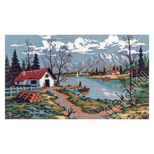 """Канва/ткань с нанесенным рисунком Gobelin-L """"Наступление осени"""""""