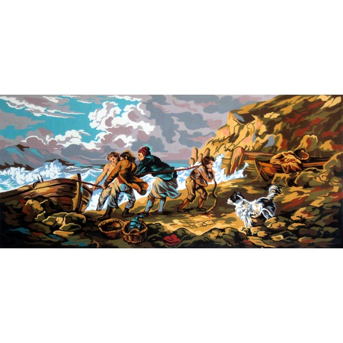 "Канва/ткань с нанесенным рисунком Gobelin-L ""Рыбаки"""