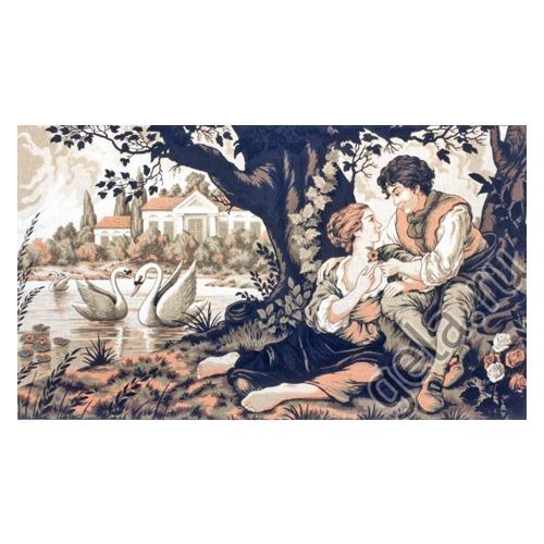 """Канва/ткань с нанесенным рисунком Gobelin-L """"Свидание"""""""