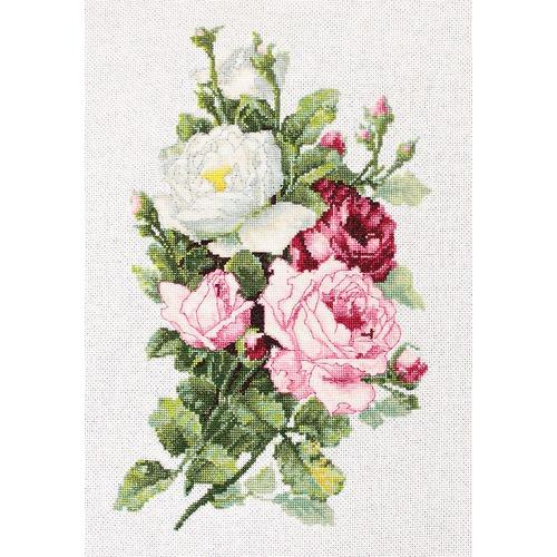 """Набор для вышивания крестом Luca-S """"Букет из роз"""""""