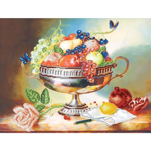 "Канва/ткань с нанесенным рисунком Матрёнин посад ""Ваза с фруктами"""