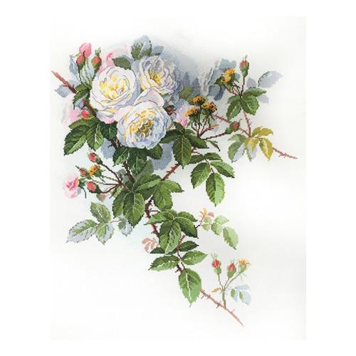 """Набор для вышивания крестом Марья искусница """"Белые розы"""""""