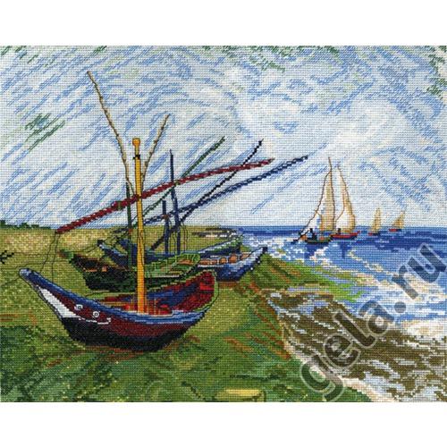 """Набор для вышивания крестом Марья искусница """"Лодки в Сен-Мари (Ван Гог)"""""""