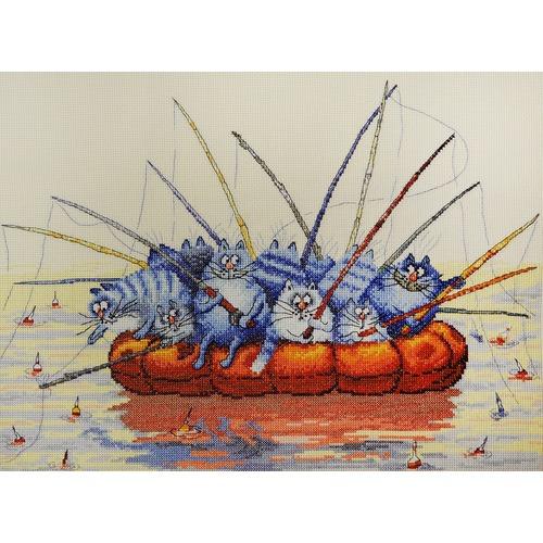 """Набор для вышивания крестом Марья искусница """"Ловись рыбка большая"""""""