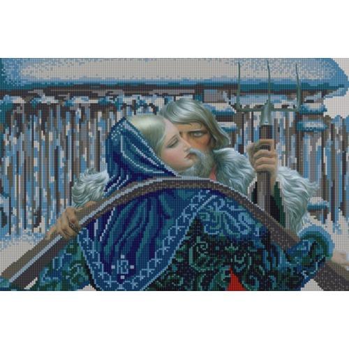 """Канва/ткань с нанесенным рисунком Конёк """"Нечаянная встреча"""""""