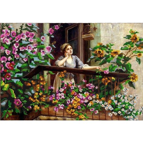"Канва/ткань с нанесенным рисунком Конёк ""На балконе"""
