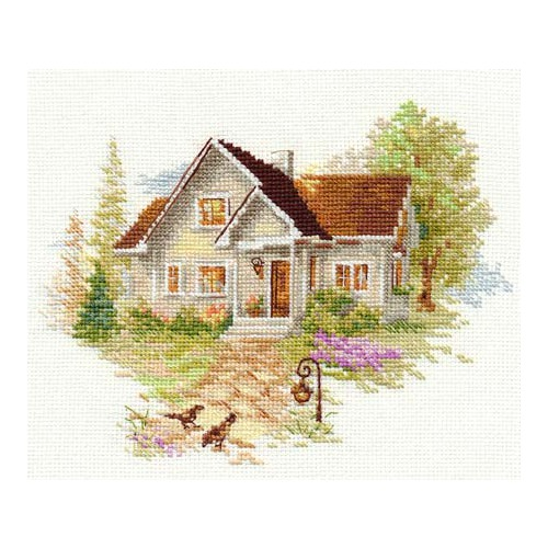 """Набор для вышивания крестом Алиса """"Июльский домик"""""""