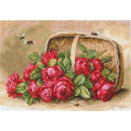 "Канва/ткань с нанесенным рисунком Матрёнин посад ""Знойные розы"""