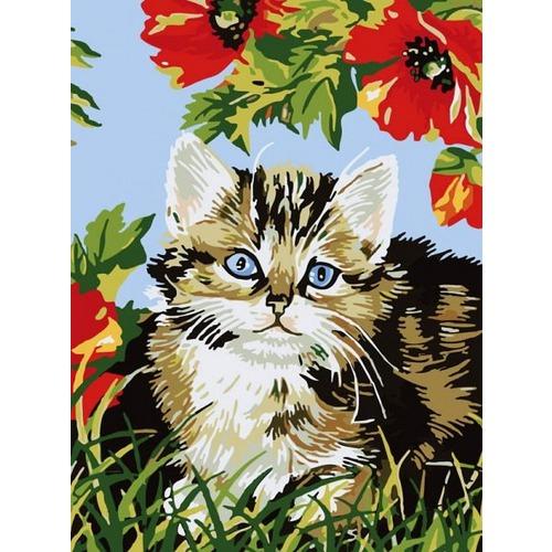 """Набор для раскрашивания Белоснежка """"Котенок в цветах"""""""