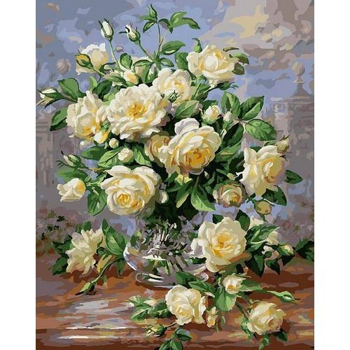 """Набор для раскрашивания Белоснежка """"Белые розы"""""""