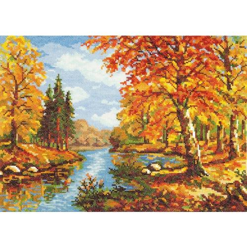 """Набор для вышивания крестом Чудесная игла """"Золотая осень"""""""