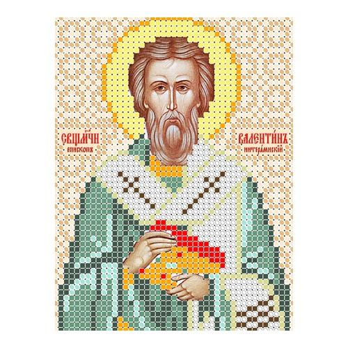 """Канва/ткань с нанесенным рисунком Вертоградъ """"Священомученик Валентин, епископ интерамнский"""""""