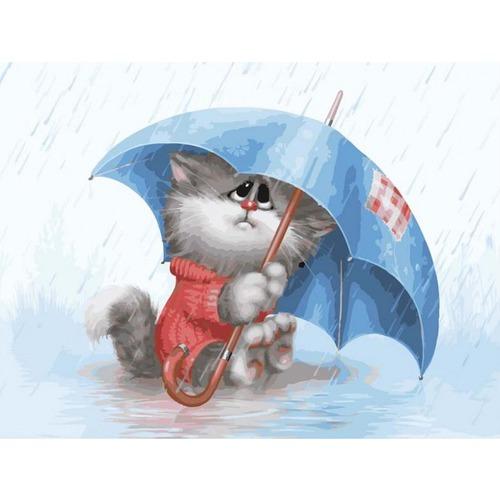"""Набор для раскрашивания Белоснежка """"Кошарик под дождем"""""""