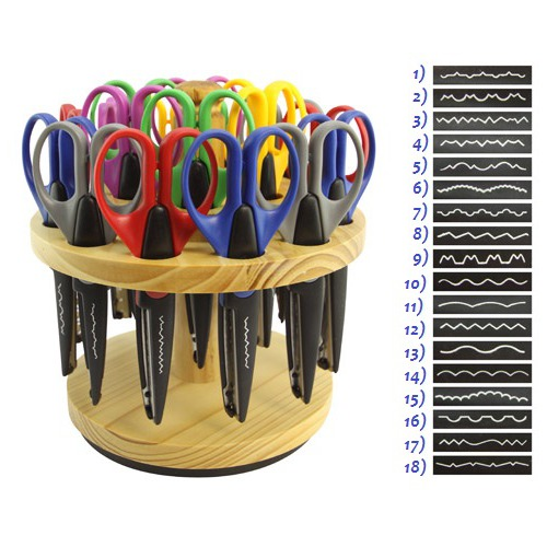Аксессуары НКМ Фигурные ножницы для хобби с цветной ручкой