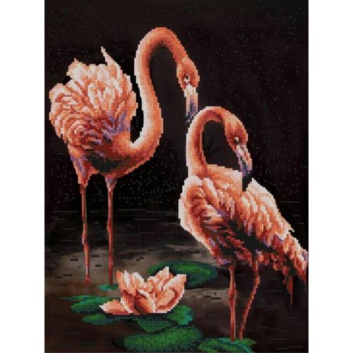 """Канва/ткань с нанесенным рисунком Конёк """"Фламинго"""""""