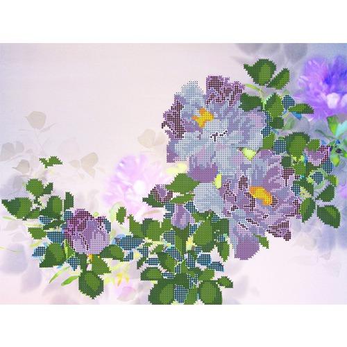 """Канва/ткань с нанесенным рисунком Глурия (Астрея) """"Голубые пионы"""""""