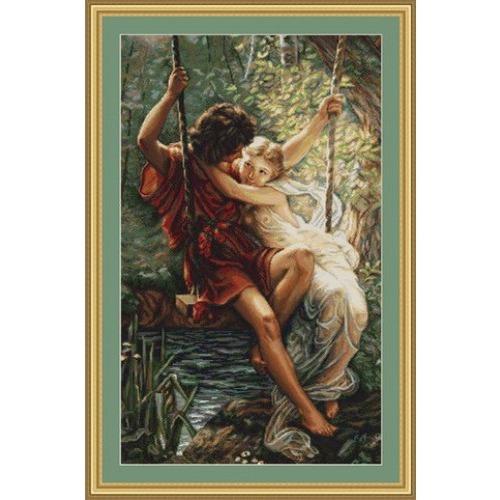 """Набор для вышивания крестом Luca-S """"Весна влюбленных"""""""