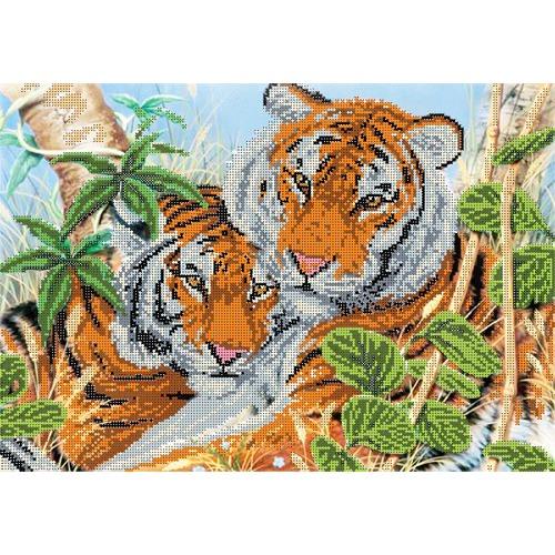"""Канва/ткань с нанесенным рисунком Глурия (Астрея) """"Тигриная нежность"""""""
