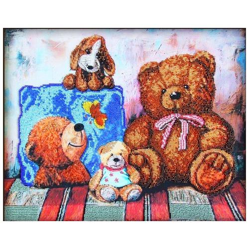 """Набор для вышивания бисером Глурия (Астрея) """"Плюшевые медведи"""""""
