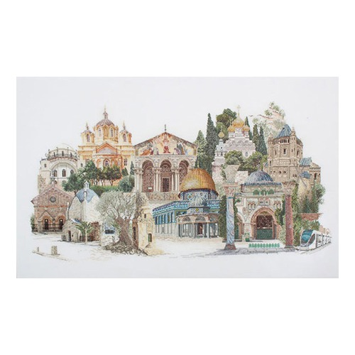 """Набор для вышивания крестом Thea Gouverneur """"Иерусалим"""""""