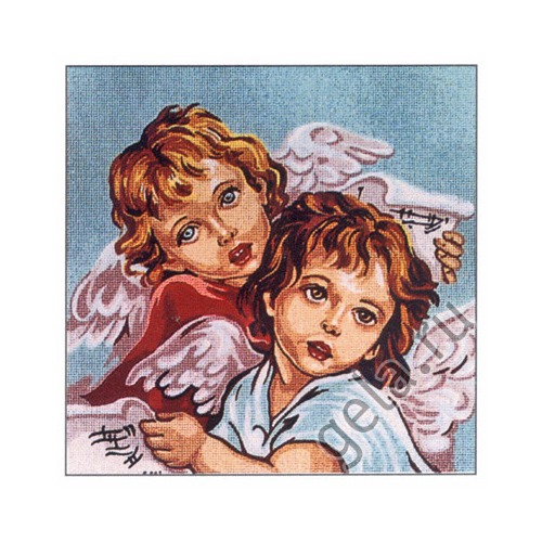 "Канва/ткань с нанесенным рисунком Gobelin-L ""Пара ангелов"""