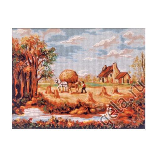 "Канва/ткань с нанесенным рисунком Gobelin-L ""Лето"""