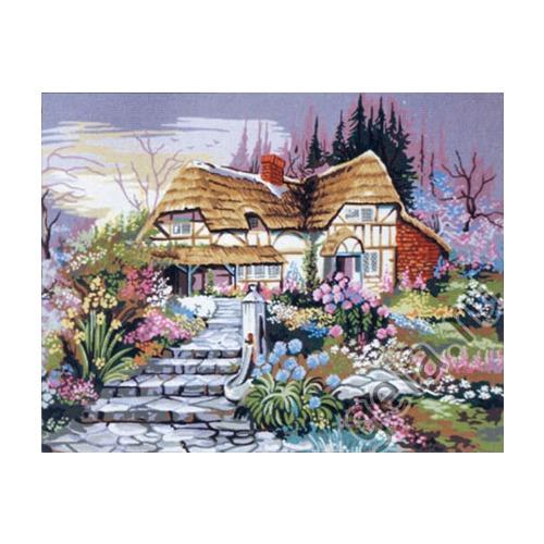 "Канва/ткань с нанесенным рисунком Gobelin-L ""Цветущий сад"""