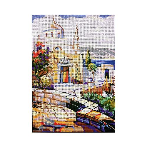 "Канва/ткань с нанесенным рисунком Gobelin-L ""Греческий храм"""