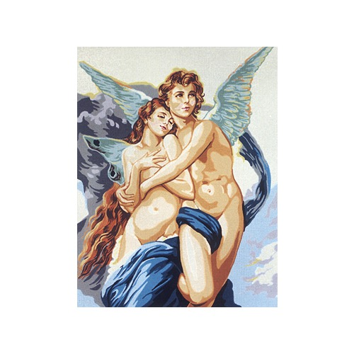 "Канва/ткань с нанесенным рисунком Gobelin-L ""Крылатые ангелы любви"""